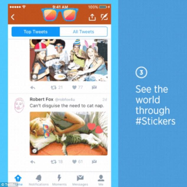 Twitter waleta Stickers katika picha! #Apps