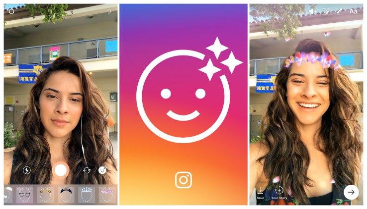 Instagram yazidi kuiiga Snapchat, yaleta face filters na Hashtags