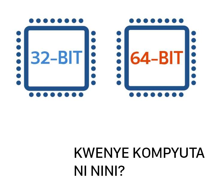 Ijue tofauti ya 32-Bit na 64-Bit katika kompyuta yako
