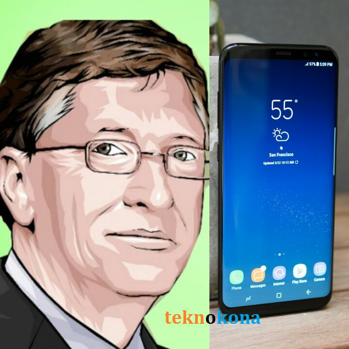 bill-gates-asema-anatumia-simu-ya-android