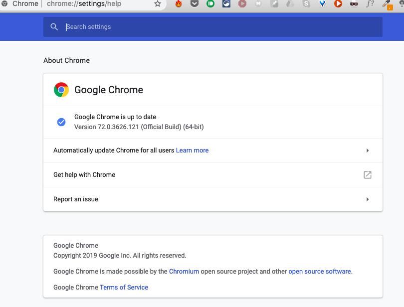 Chrome kivinjari google chrome sasisha