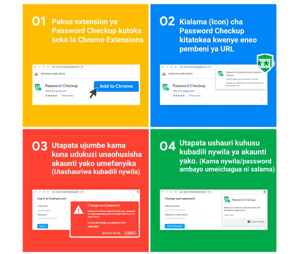 Google kukuambia kama password yako imedukuliwa