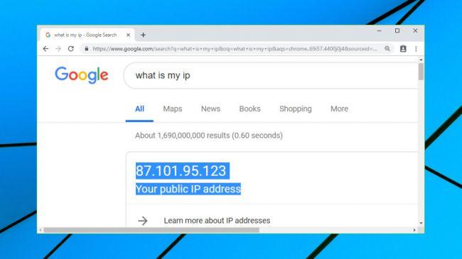 Mfano Wa IP Address Ambayo Imepatika Kupitia Google