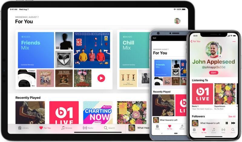 app ya Muziki ya Apple