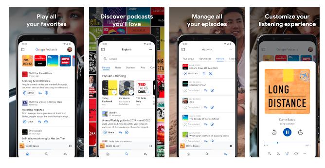 Google Podcast na downloads milioni 100