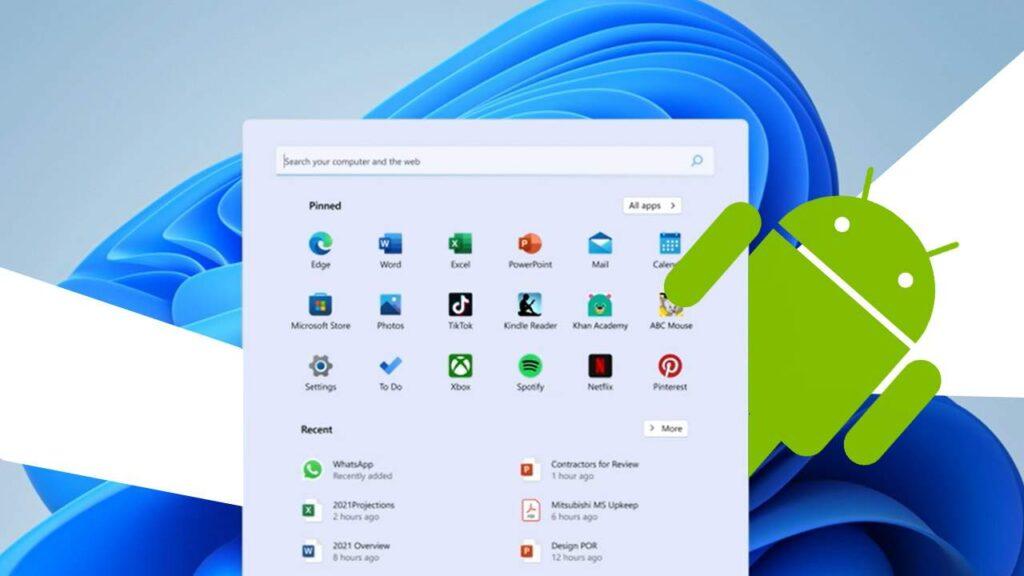 Windows 11 kuzinduliwa bila ya programu tumishi za Android